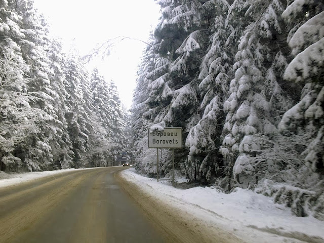 The road to Borovets