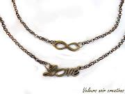 collana in bronzo infinity love con simbolo infinito