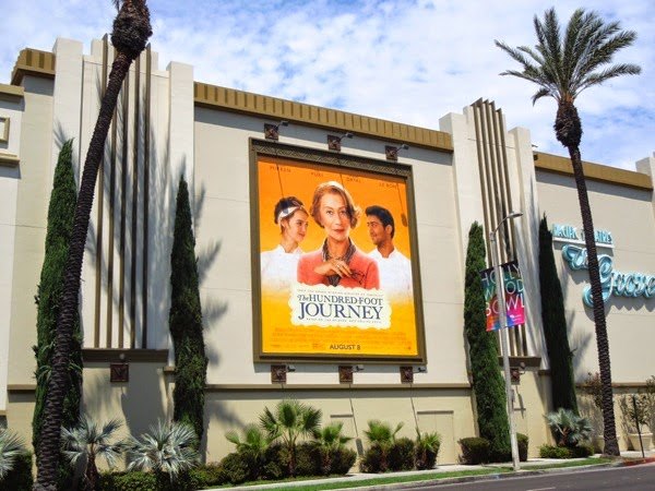 Hundred Foot Journey movie billboard