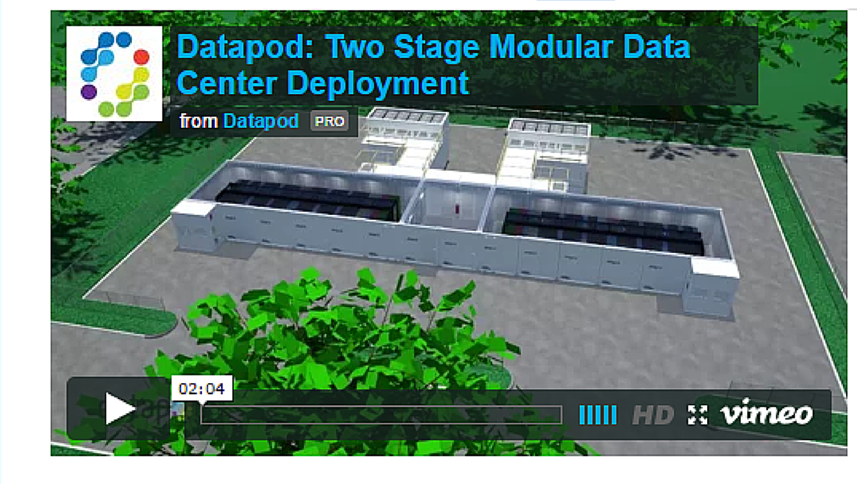 Two stage data center deployment