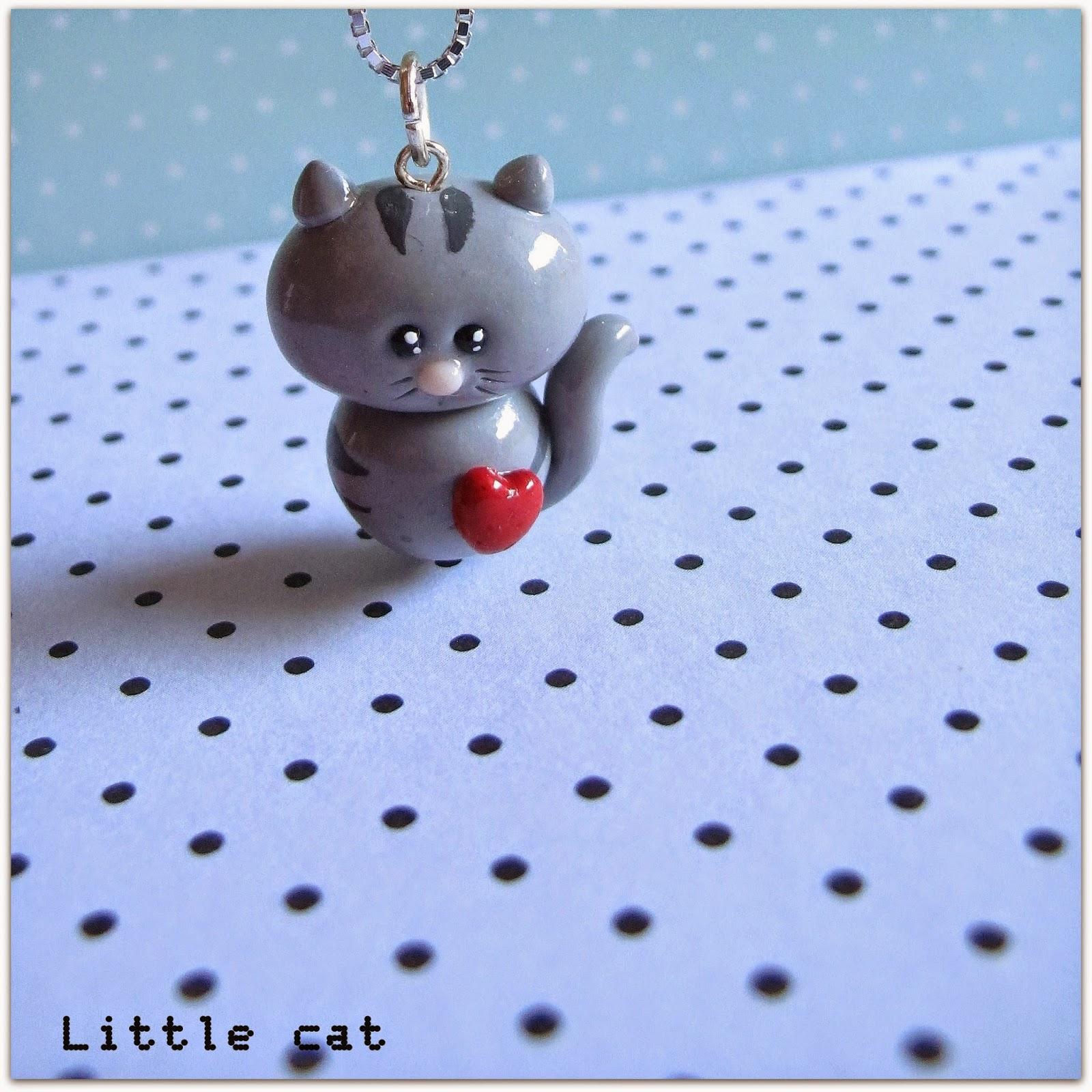 Bien-aimé MA PETITE PLANETE: pâte fimo : petit chat gris TG39