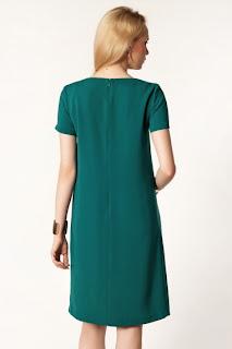 koyu yeşil elbise modeli