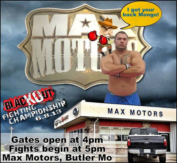 REMINDER: MAX MOTORS IS THE PLACE TO BE TOMORROW FOR GREAT MMA ACTION