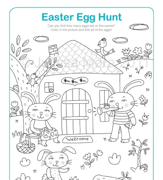 Penguin S Gift Easter Egg Hunt Coloring Printable