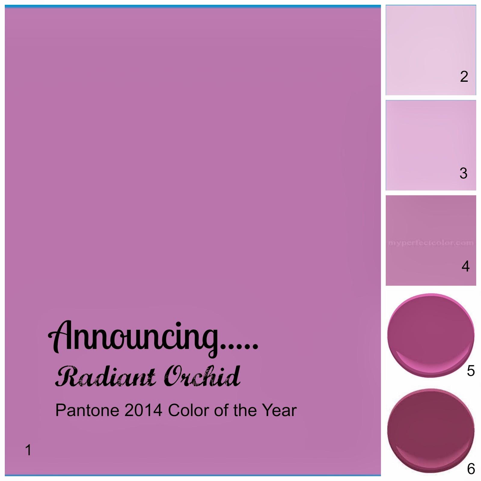 "Lisa Mende Design: My Top 5 ""Radiant Orchid"" Paint Colors"