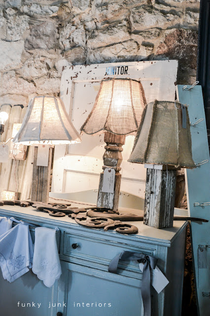shabby lamps at Bella Rustica