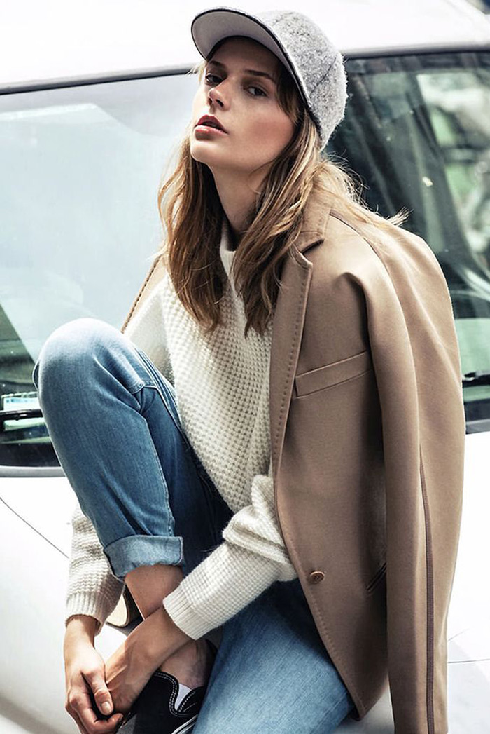 fall fashion inspiration, cap, camel coat