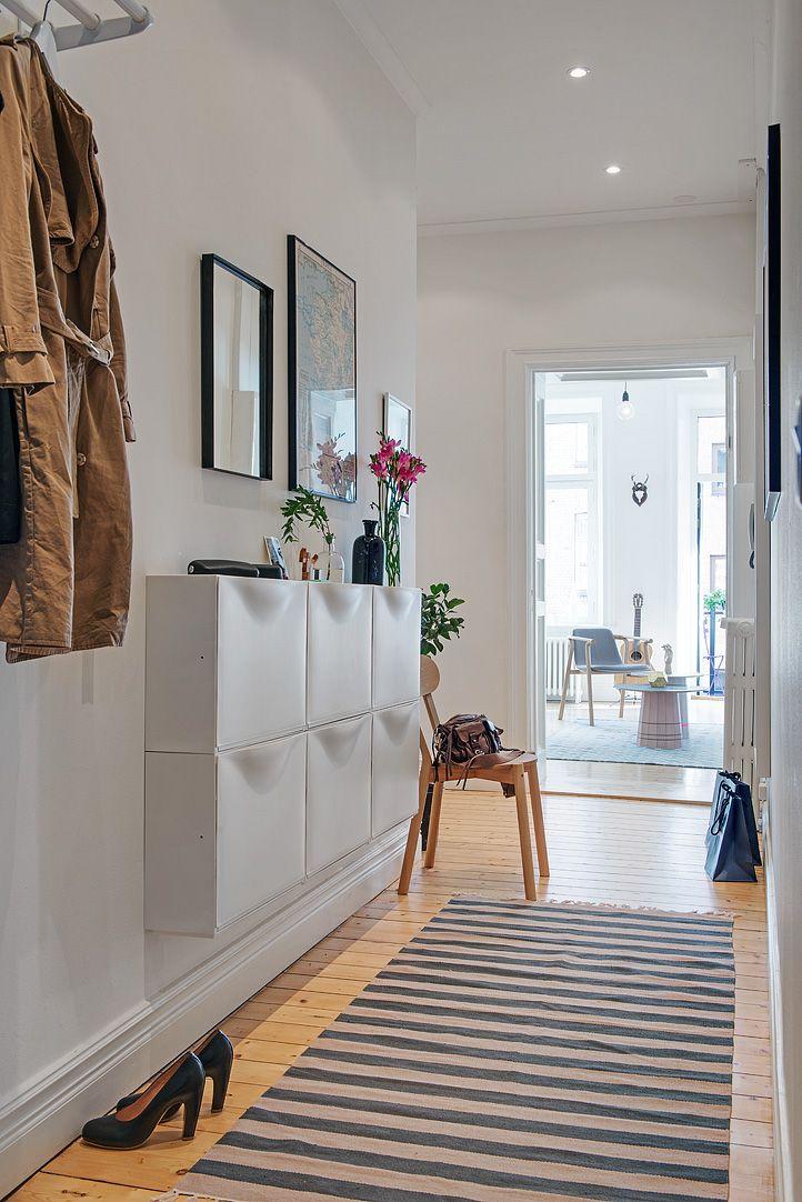 Hogar diez: Cómo decorar pasillos estrechos