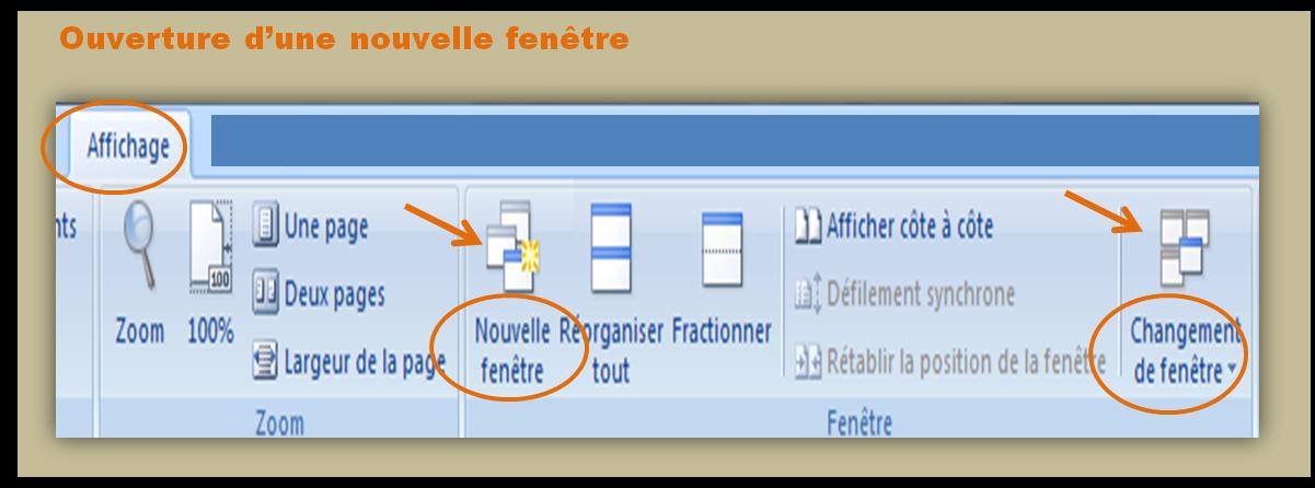 Travailler à deux endroits à la fois dans Word : l'ouverture et la gestion des fenêtres