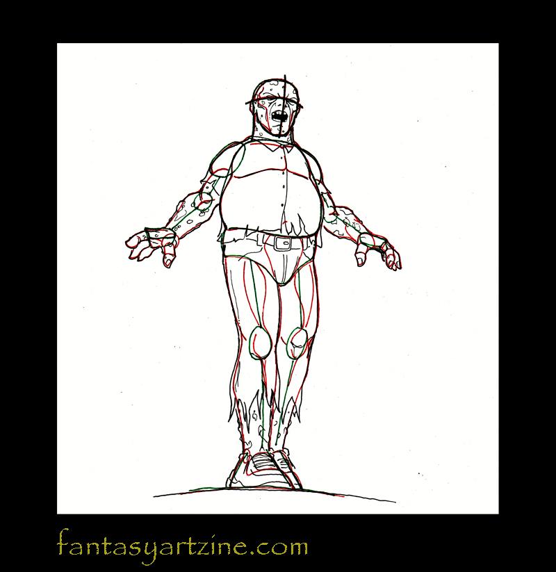 apprendre a dessiner un zombie