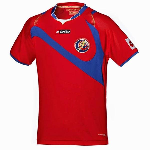Jersey Negara Costa Rica - Piala Dunia 2014