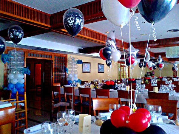 Decoraci n globos restaurante for Decoracion para restaurantes