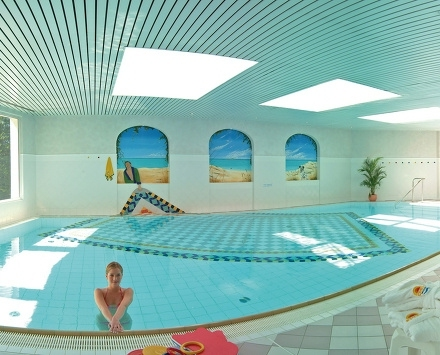 All weather swimming pool at Hotel Bellevue Mondi in Bad Gastein Austria