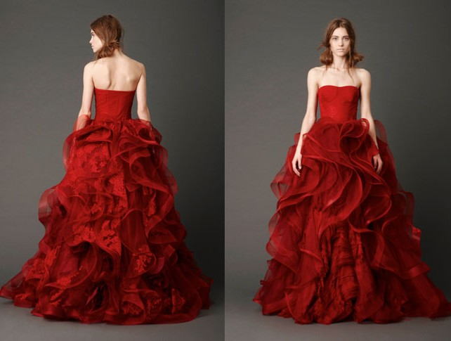 Wedding Dresses Color Red : Red is the one color that symbolizes passion and romance just like