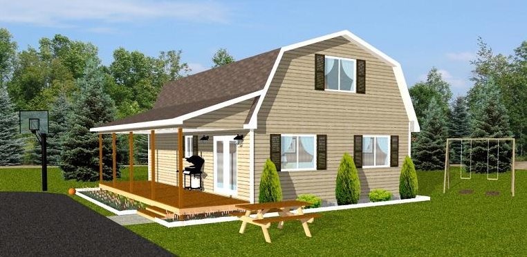 Smart placement gambrel home plans ideas architecture for Small gambrel house plans