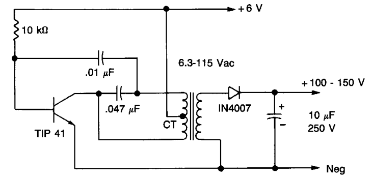 High voltage Power supply Circuit Diagram