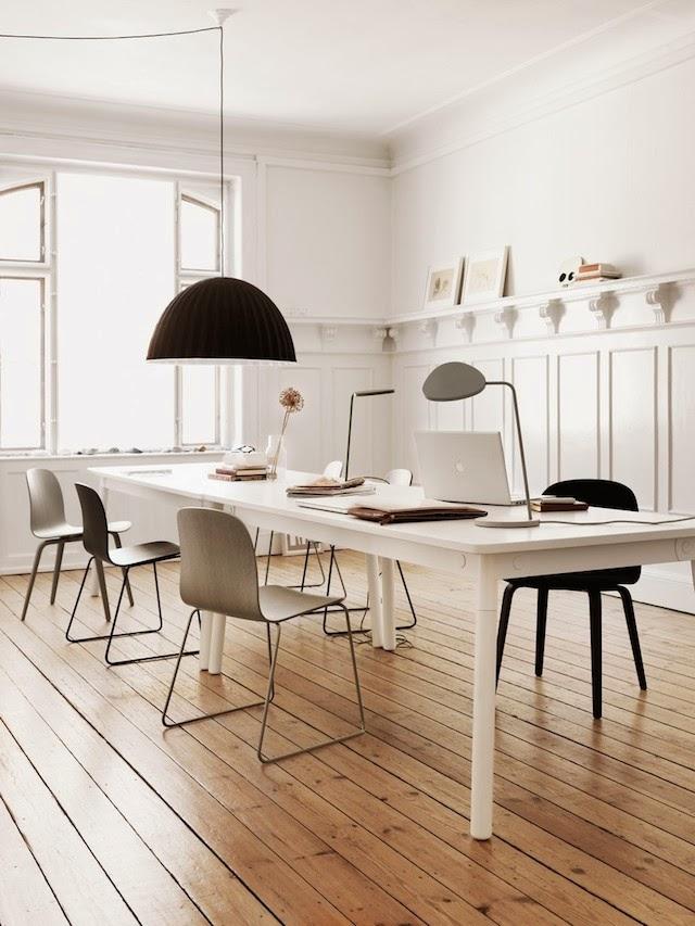 ADAPTABLE table | VISU chair |  | Muuto at C-More interieuradvies.blogspot.nl workplace
