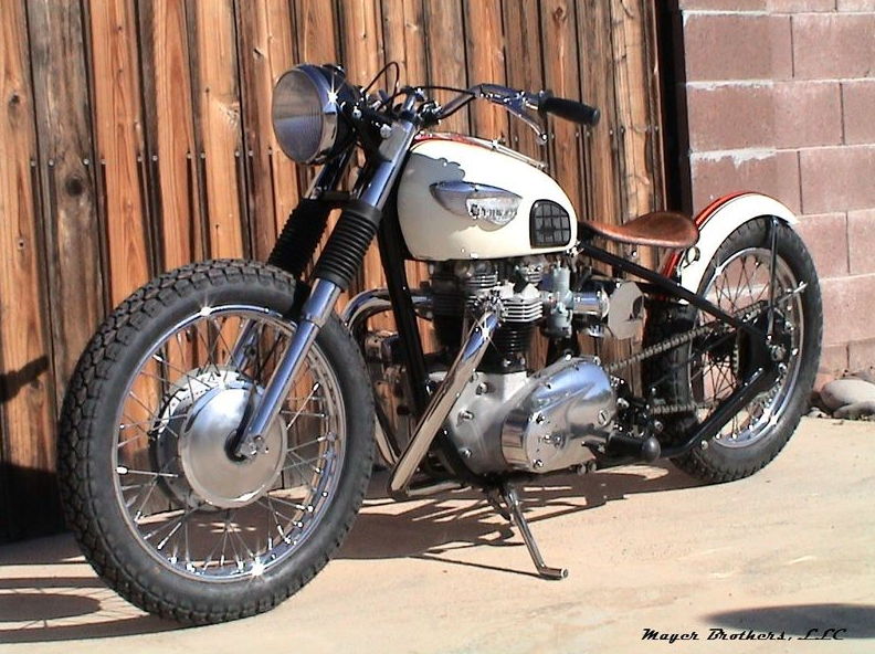 1967 Triumph 650 Custom Bobber   Rusty Knuckles   Motors and Music