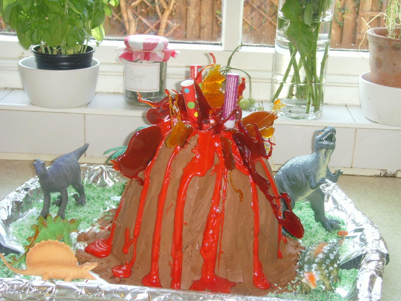 How To Make A Volcano Birthday Cake Mumstop