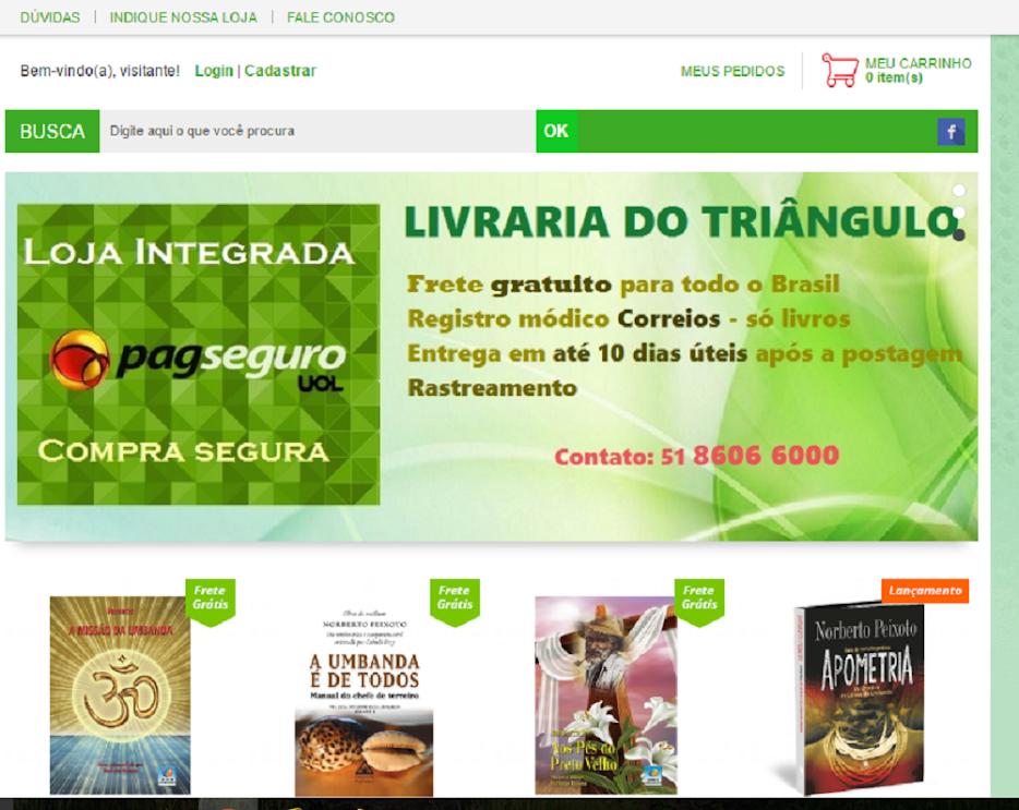 SITE NOVO LIVRARIA DO TRIÂNGULO.
