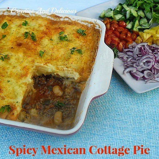 Spicy Mexican Cottage Pie ~ a delicious spin on the everyday favorite! #Mexican #CottagePie #SpicyDish