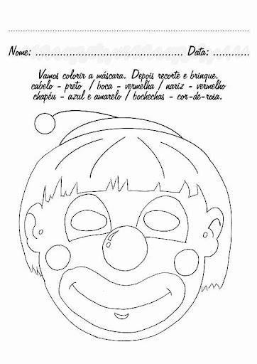 pedagogas da paz máscara de palhaço pintar