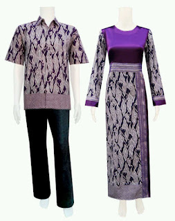 Model Gamis Batik Modern Wanita Muslimah Pita Samping