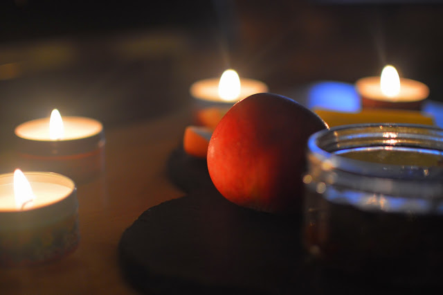 Apple in candlelight