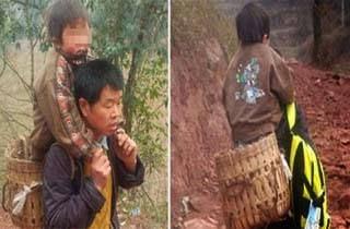 Tiap Hari, Pria China Gendong Anak Sejauh 28 Km Ke Sekolah