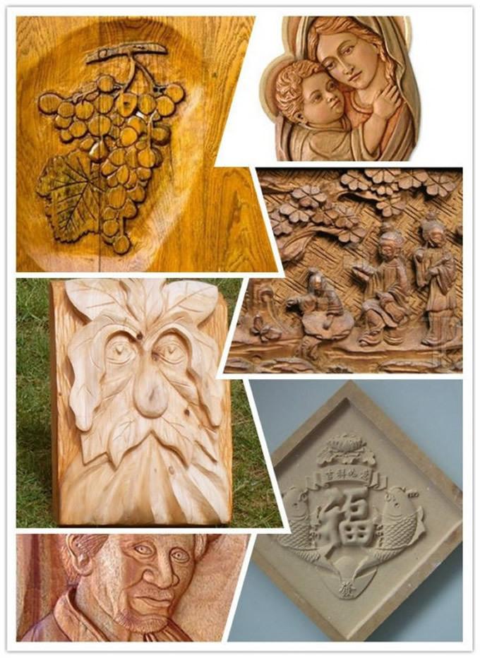 Grabados en pedazos de madera