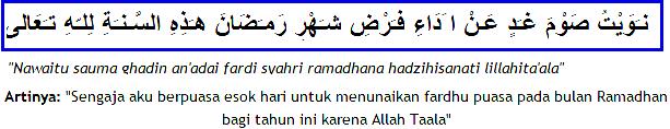 Bacaat Niat Puasa dan Doa Buka Puasa Ramadhan