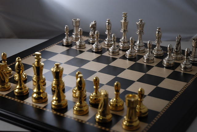 A Sterling Silver Chess Set