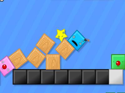 juego de física y de objetos que se mueven por la gravedad