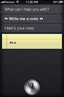Siri: Write me a note.