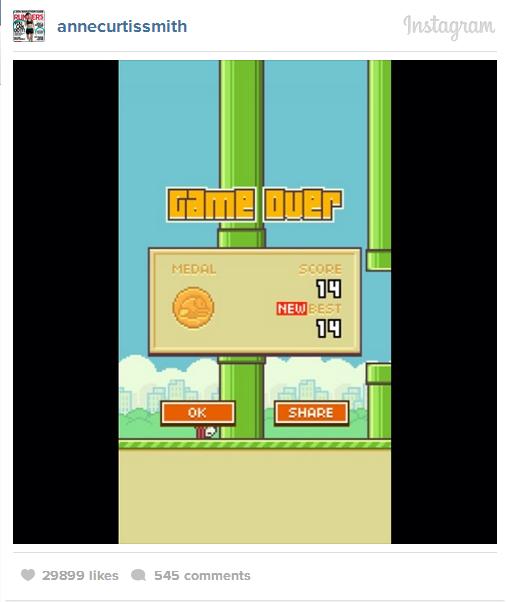 flappy bird score