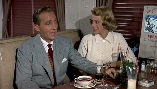 look at the suiting on bing and danny perfectly tailored classic gray and slim tie choices love the one on bing - White Christmas Snow Song
