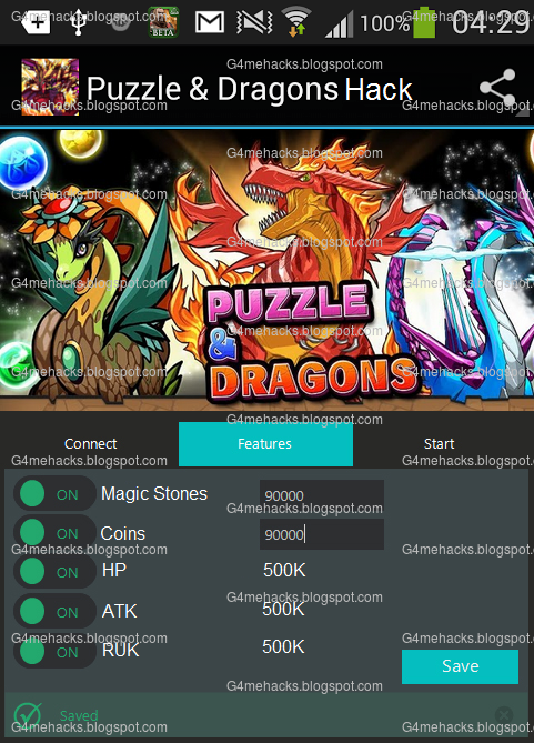 Puzzle & Dragons Hack