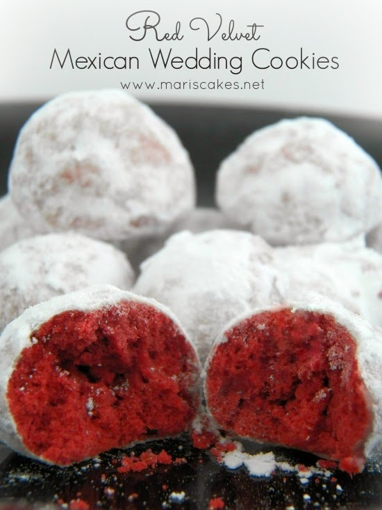 Red Velvet Mexican Wedding Cookies | Mari's Cakes (English)
