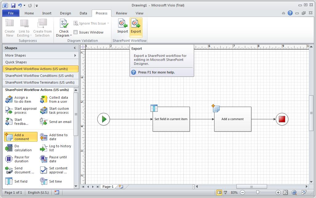 Microsoft sharepoint workflow visio template workflow in visio 2010 microsoft technology ccuart Choice Image
