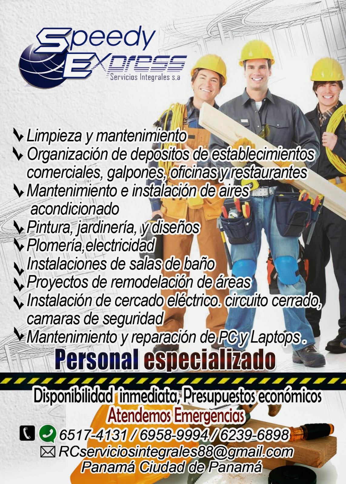 Speedy express s a servicios integrales servicios for Servicios de construccion