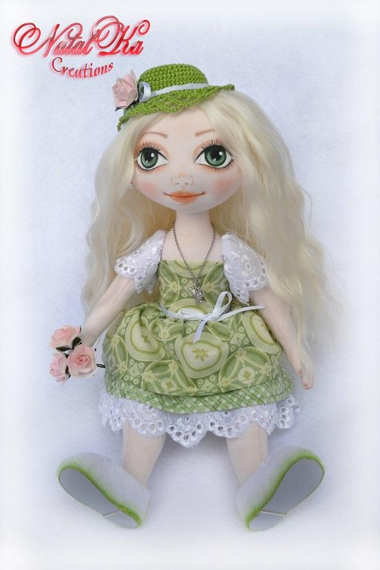 Rag art doll. Handgemachte Stoffpuppe