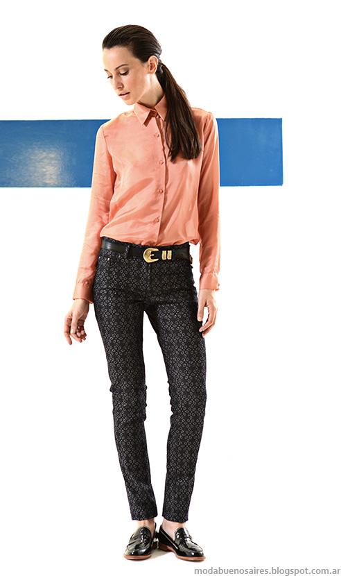 Mancini otoño invierno 2014 moda en pantalones de mujer invierno 2014.