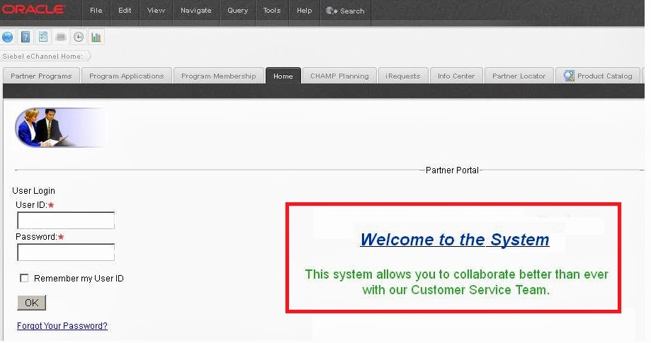Configure Siebel Home page Using Microsite