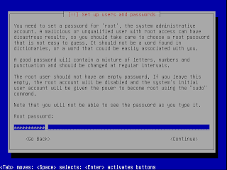Password untuk root