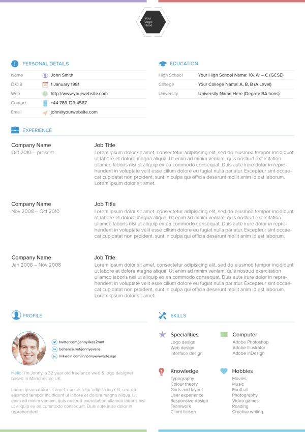 Resume template - Free Download
