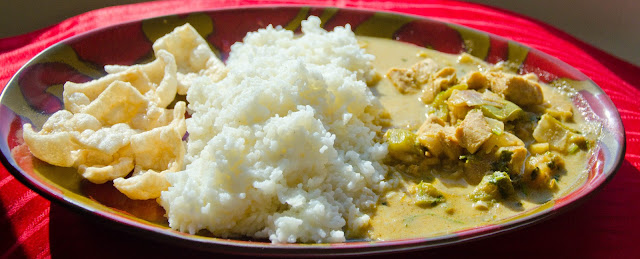 ... Easy-peasy Thai green chicken curry with Coconut Rice ~ My Pressure