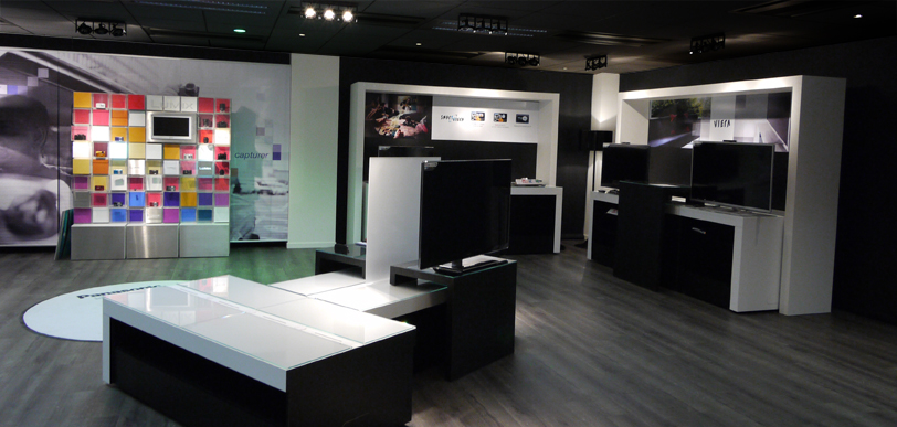 Image : photo du showroom Panasonic France  Gennevilliers
