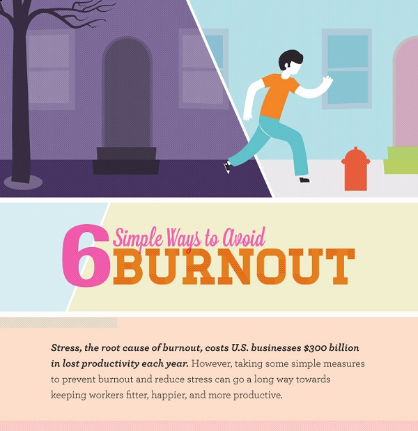 Infographic 6 Simple Ways To Avoid Burnout Title
