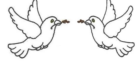 Imagen de la paloma de la paz para colorear