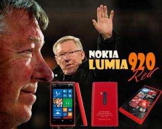 Inilah Lumia 820 Edisi Khusus Alex Ferguson